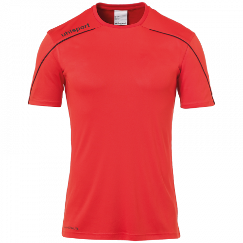 STREAM 22 SHIRT SHORTSLEEVED ROJO/NEGRO UHLSPORT