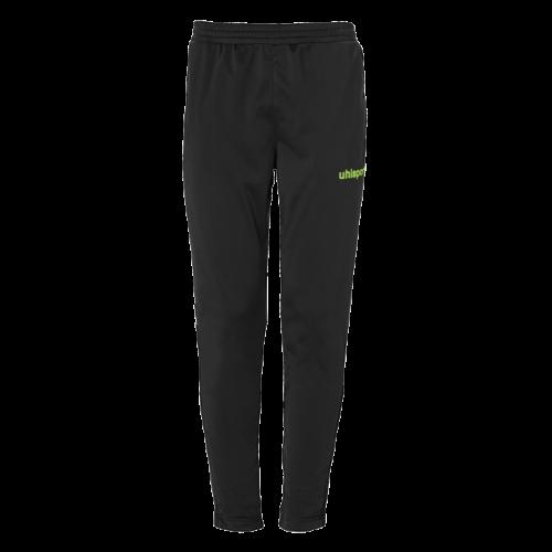 SCORE TRACK PANTS negro/verde fluor UHLSPORT