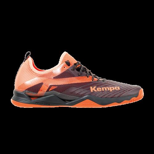 Zapatilla de balonmano WING LITE 2.0 negro/naranja fluor KEMPA
