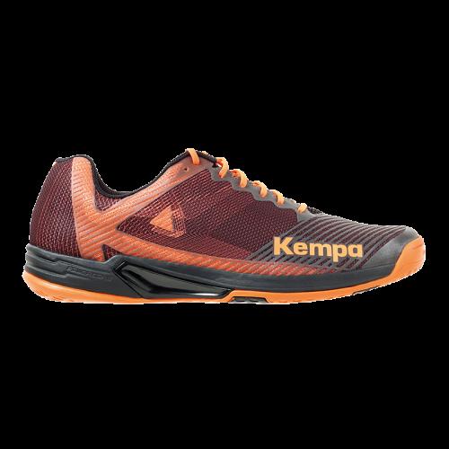 Zapatilla de balonmano WING 2.0 negro/naranja fluor KEMPA