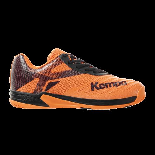 Zapatilla de balonmano WING 2.0 JUNIOR naranja fluor/negro KEMPA