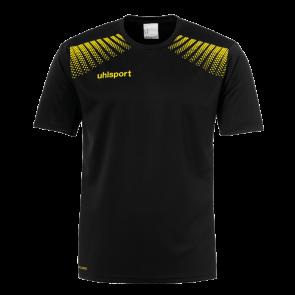 GOAL POLYESTER TRAINING T-SHIRT negro/lima amarillo UHLSPORT