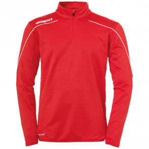 STREAM 22 1/4 ZIP TOP red UHLSPORT