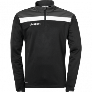 OFFENSE 23 1/4 ZIP TOP negro/antracita/blanco UHLSPORT