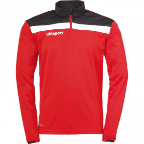 OFFENSE 23 1/4 ZIP TOP rojo/negro/blanco UHLSPORT