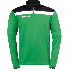 OFFENSE 23 1/4 ZIP TOP verde/negro/blanco UHLSPORT