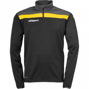 OFFENSE 23 1/4 ZIP TOP negro/antracita/lima amar UHLSPORT