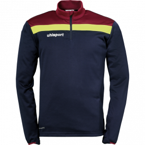 OFFENSE 23 1/4 ZIP TOP azul marino/burdeos/amari UHLSPORT
