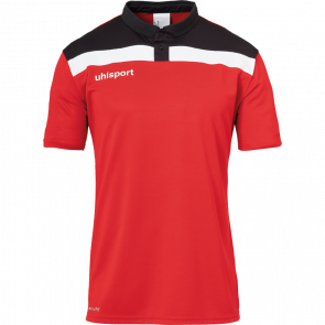 OFFENSE 23 POLO SHIRT rojo/negro/blanco UHLSPORT