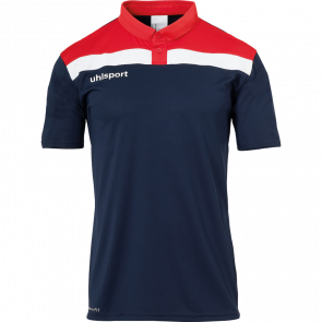 OFFENSE 23 POLO SHIRT azul marino/rojo/blanco UHLSPORT