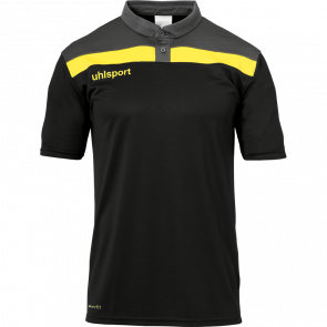 OFFENSE 23 POLO SHIRT negro/antracita/lima amar UHLSPORT