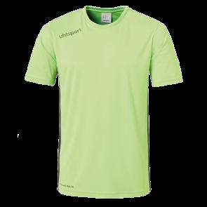 ESSENTIAL CAMISETA MC verde flash/negro UHLSPORT