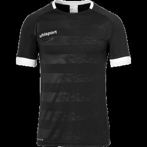 DIVISION II SHIRT SHORTSLEEVED negro/blanco UHLSPORT