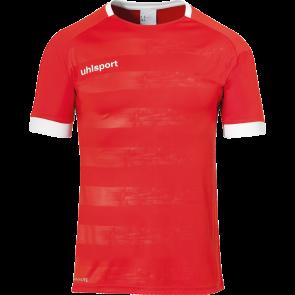 DIVISION II SHIRT SHORTSLEEVED rojo/blanco UHLSPORT