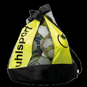 BALLBAG (12 BALLS) negro/amarillo fluor UHLSPORT