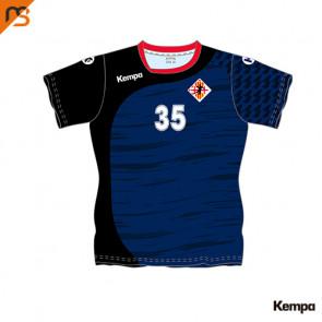 Camiseta MC. Sublimada Kempa, 2ª Equipa. Blava femenina - base HANDBOL VIC, Mujer sublimada HANDBOL VIC