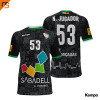 Camiseta MC. Sublimada Kempa, 2ª equip. negra CLUB ESPORTIU OAR GRACIA SABAD, Unisex Infantil