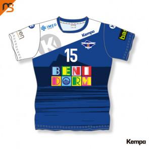 Camiseta MC. Sublimada Kempa, 1ª Femenina BALONMANO BENIDORM, Mujer Sublimada BALONMANO BENIDORM
