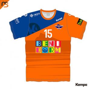 Camiseta MC. Sublimada Kempa, 2ª Base BALONMANO BENIDORM, Hombre Sublimada BALONMANO BENIDORM